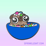 Pug Loops Cereal hard enamel pin Pre-Order