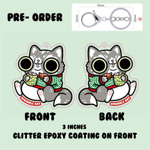 Holiday Treats Scabba Cat Keychain PRE-ORDER