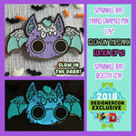 Designer Con exclusive Glow in the Dark Sprinkle Bat hard enamel pin