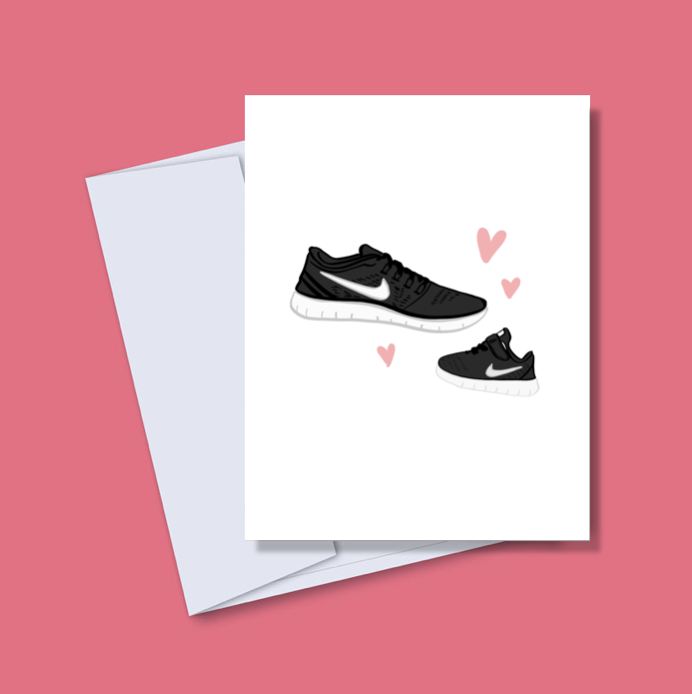 Baby Nikes New Baby Card