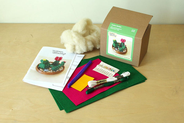 Cactus Garden | DIY Felt Hand Sewing Kit