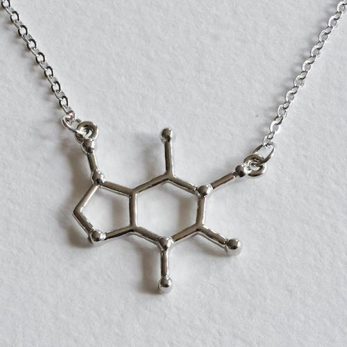 Caffeine Molecule Necklace - Aloraflora Jewelry