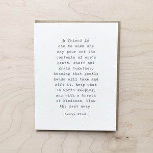 Friend Quote Card