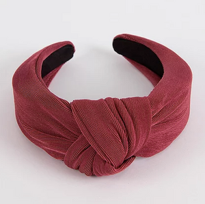 Cranberry Knotted Headband
