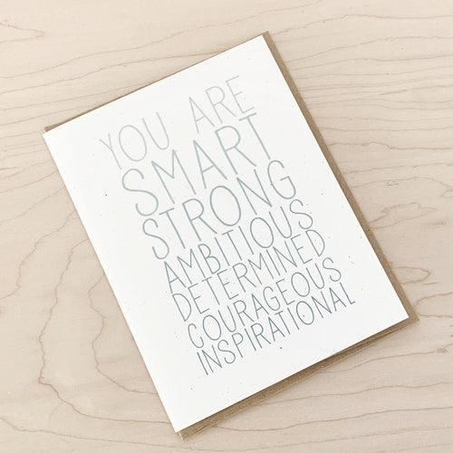 You Are Smart | Greeting Card
