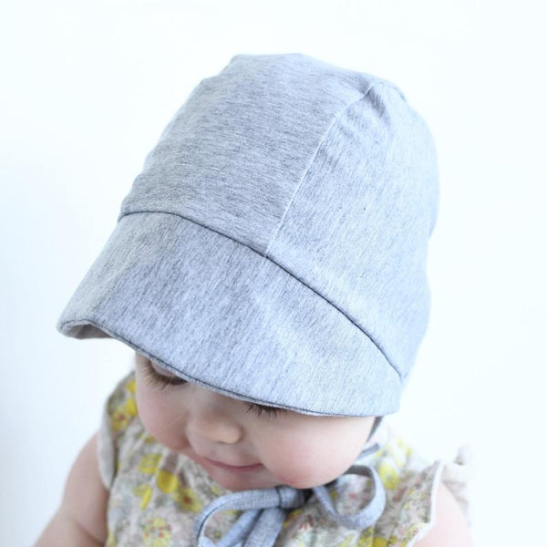 Fog Grey Baby Bonnet