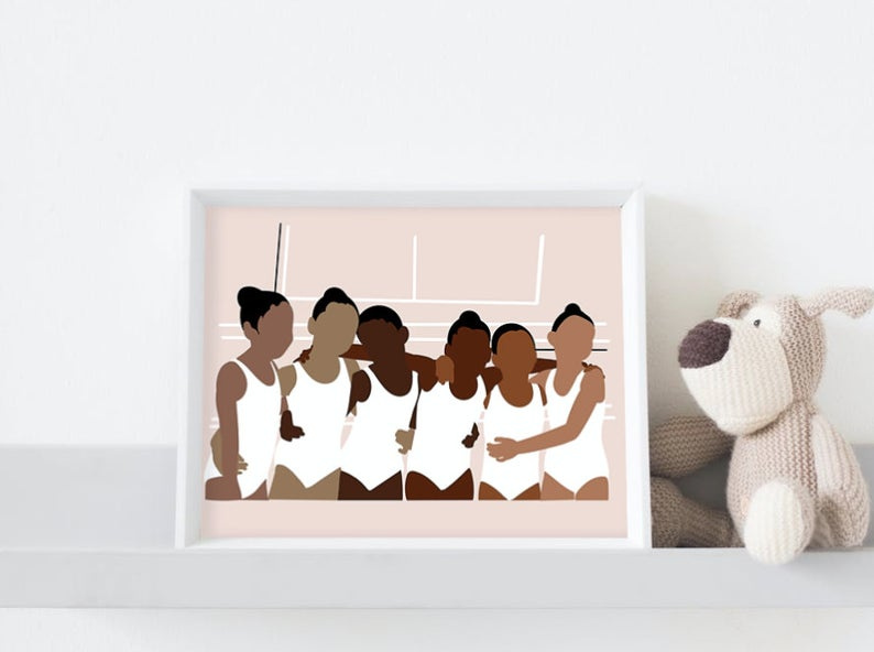 Black Ballerinas Part 2 | Art Print