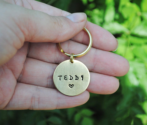 Personalized Pet Memorial Keychain - Dog Memorial Gift - Cat Memorial Gift - Custom Memorial Tag - Remembrance Gift - Dog Memorial Keyring