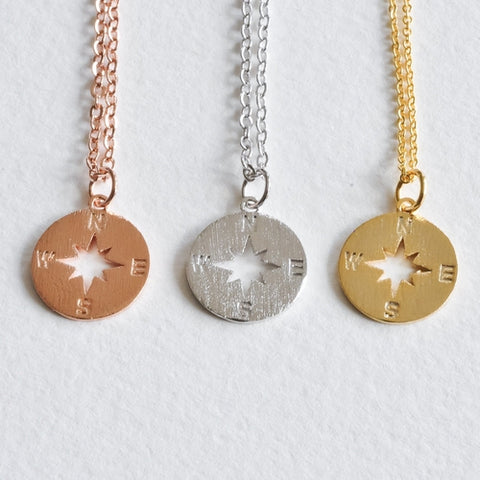 North Star Compass Necklace - Aloraflora Jewelry