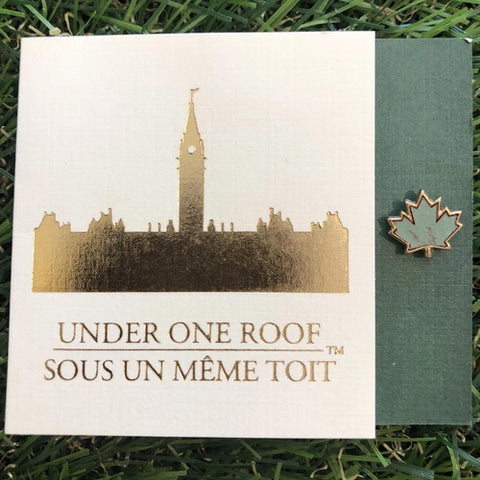 Parliament Maple Leaf Pin