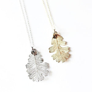 Oak Leaf Necklace by Birch Jewellery