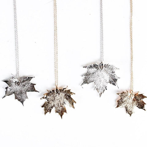Maple Leaf Necklace by Birch Jewellery