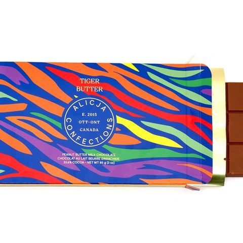 Tiger Butter • Peanut Butter 33.6% Milk Chocolate
