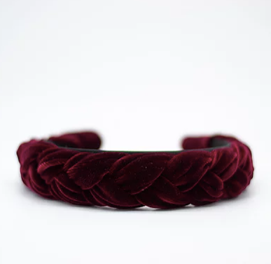 Merlot Braided Headband