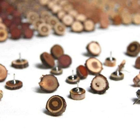 Wood Push Pins  - 10 Pack