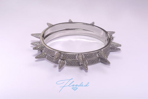 Diamond Spike Bangle - Flooded Jewelers