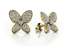Load image into Gallery viewer, Butterfly Diamond Studs