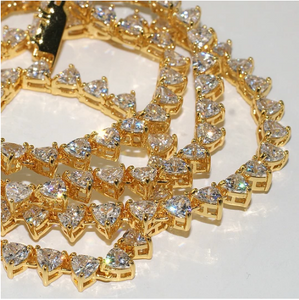Trillion Cut Tennis Chain