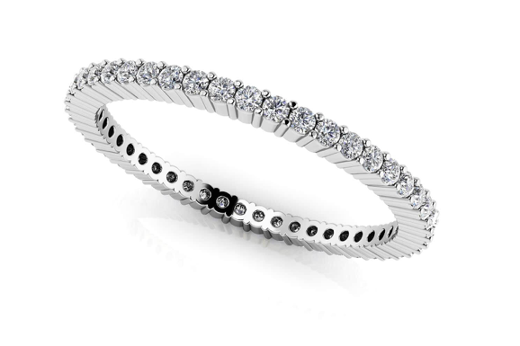 Single Row Stackable Eternity Ring