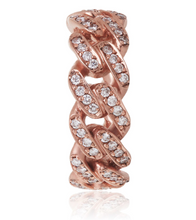Load image into Gallery viewer, Rose Gold Diamond Cuban Ring - Flooded Jewelers