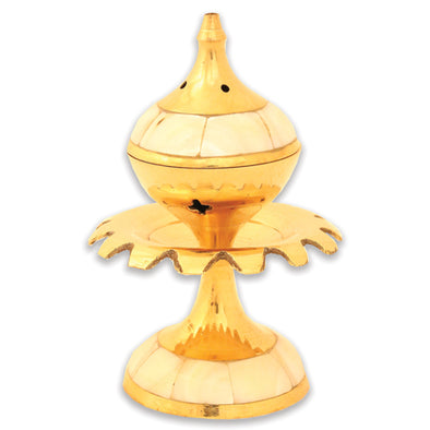 Mother of pearl style brass burner