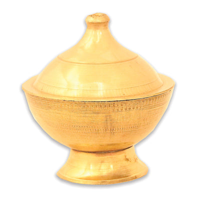 Small brass pot