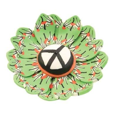 Fimo Round Peace Sign