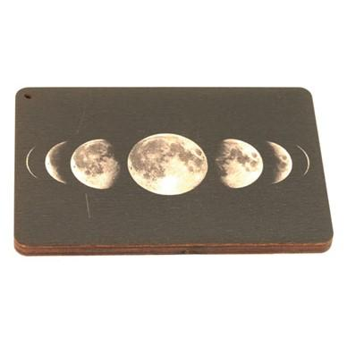 Wooden Square Moon