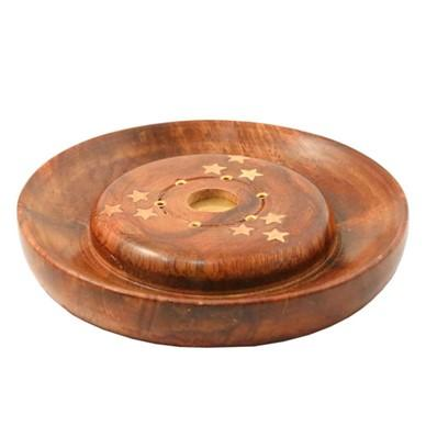 Wood Incense Plate