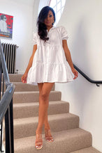 Load image into Gallery viewer, Stassie smock dress - white