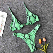 Load image into Gallery viewer, Lalara snake bikini - green