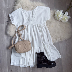 Alissa smock dress - white