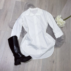 Danii white boyfriend shirt