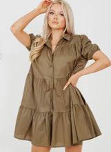Load image into Gallery viewer, Stassie smock dress - khaki