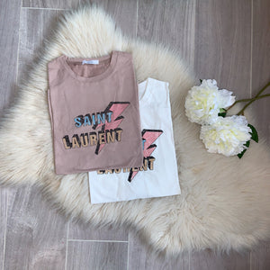 LUXE COLLECTION - Saint tee - Nude