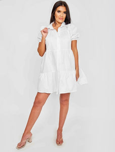 Stassie smock dress - white