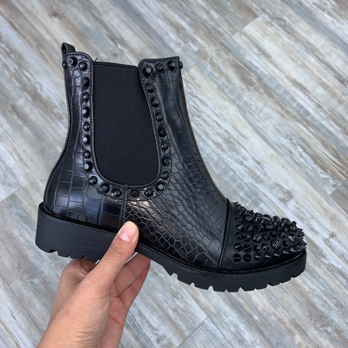 Kendall stud toe boots