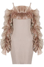 Load image into Gallery viewer, Delilah frill dress - nude