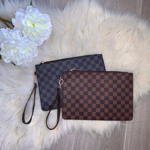 LV clutch bag - brown