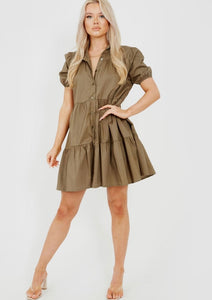 Stassie smock dress - khaki