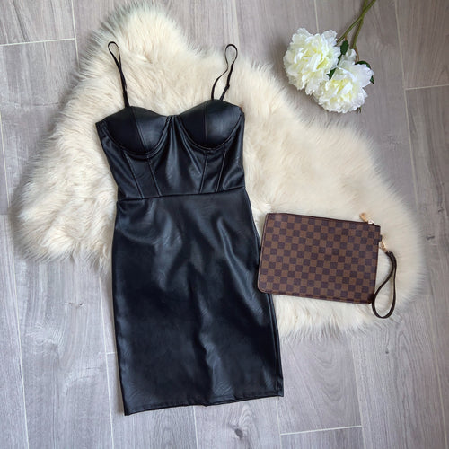 Jessie faux leather dress