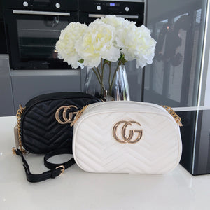 GG cross body bag - white