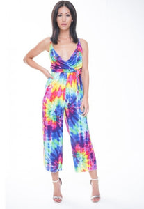 Freya multi colour tie dye jumpsuit