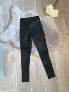 Anais thick faux leather pocket leggings