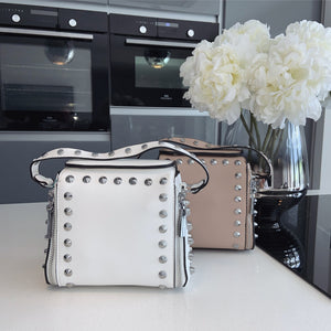 Xara studded bag - white