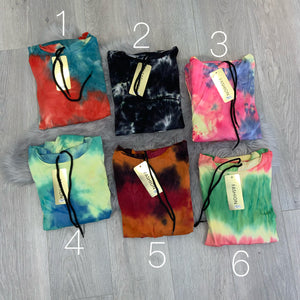 Portia tie dye loungeset - choose colour
