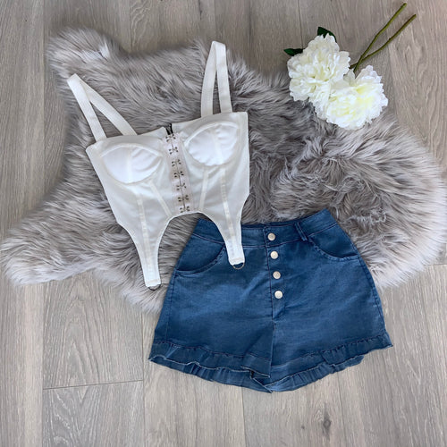 Hettie denim shorts