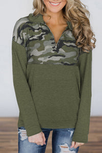 Veromoi Casual Camouflage Patchwork Hoodie