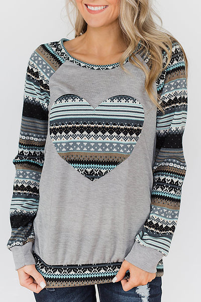 Veromoi Trendy  Long Sleeves Print T-shirt