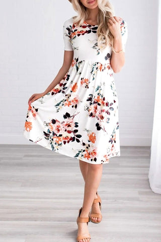 Veromoi Floral Printed Knee Length Dress